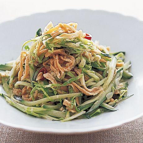 マヨネーズとの相性が抜群「切り干し大根マヨサラダ」のレシピです。プロの料理家・金丸絵里加さんによる、切り干し大根、赤とうがらし、キャベツ、きゅうりなどを使った、86Kcalの料理レシピです。