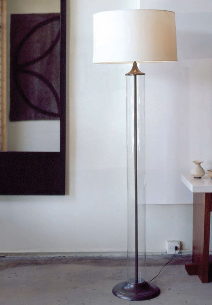 dennis miller associates paolo cylindrical glass lamps