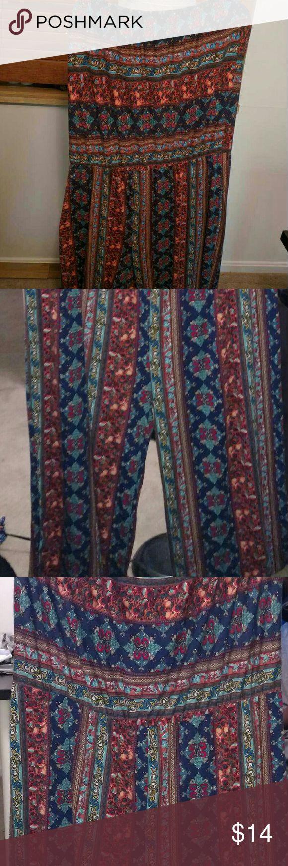 Print Jumper strapless Print jumper Pants Jumpsuits & Rompers