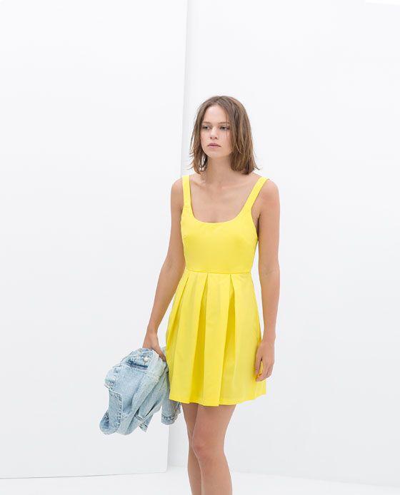 yellow dress by zara clothing