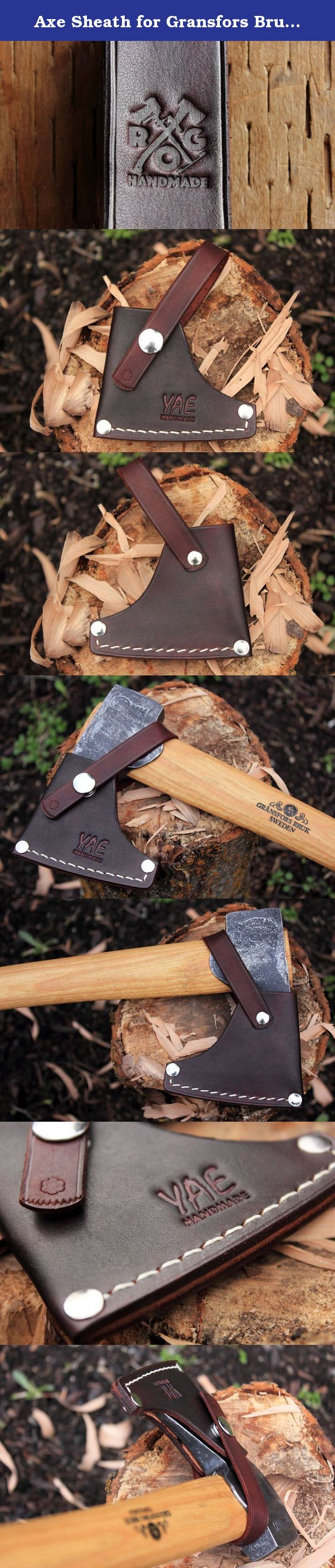 Axe Sheath for Gransfors Bruks Wildlife Hatchet (Brown). This sheath is designed specifically and exactly for the Gransfors Bruks (or Bruk) Wildlife Hatchet. It is made out of full-grain vegetable-tanned cowhide. You can leave it this way, or you can treat it with an oil/product of your choice. The sheath is handmade in Spokane, Washington. The construction of the sheath starts with three pieces of leather: the main body of the sheath, the securing strap and the welt. The main body is…