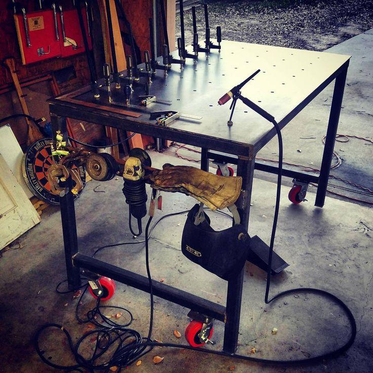 Finally finished my fab/fixture you welding table. #custom #fabricationlife #tig #weldporn #welding #fixturetable