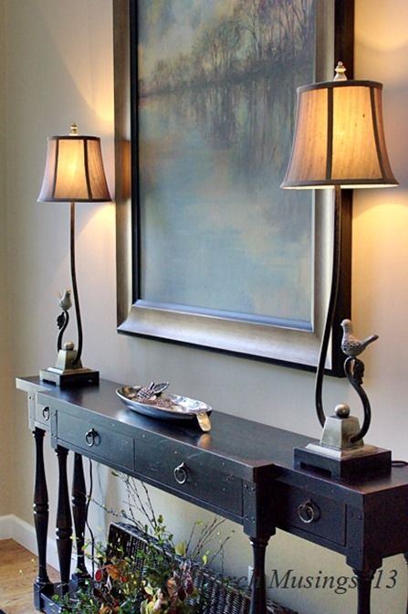 Foyer Table Lamps : Best ideas about foyer table decor on pinterest