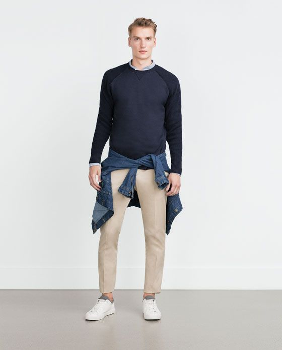 ZARA - MAN - COMBINATION KNITTED SWEATER