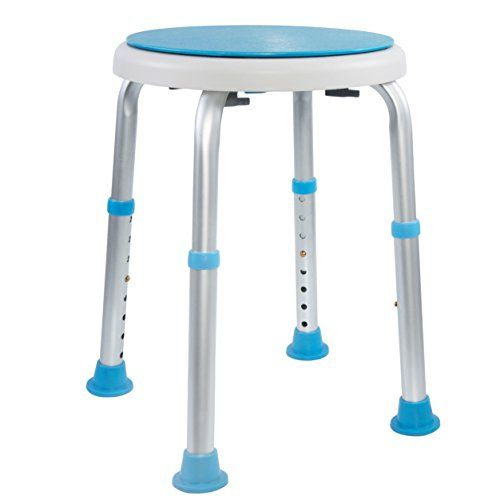 Medical Tool-Free Assembly Adjustable Swivel Shower Stool Seat Bench with Anti-Slip Rubber Tips for Safety and Stability #Medical #Tool #Free #Assembly #Adjustable #Swivel #Shower #Stool #Seat #Bench #with #Anti #Slip #Rubber #Tips #Safety #Stability