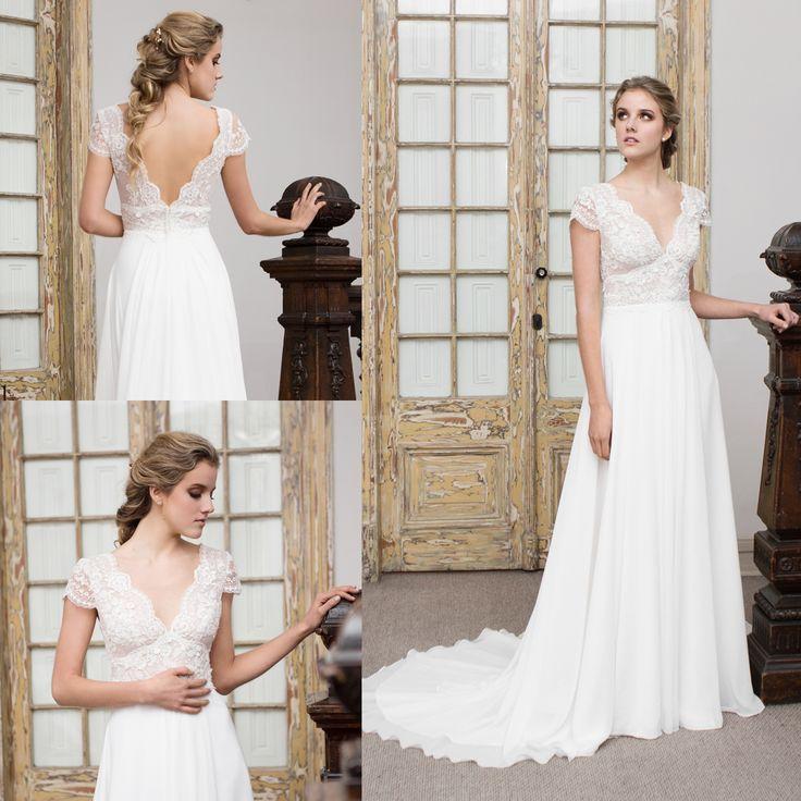 Vestido de novia transparente bordado · Transparent embroidered wedding dress - www.santoencanto.cl/vestidos-de-novia