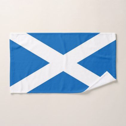 Hand Towel with Flag of Scotland United Kingdom - home gifts ideas decor special unique custom individual customized individualized