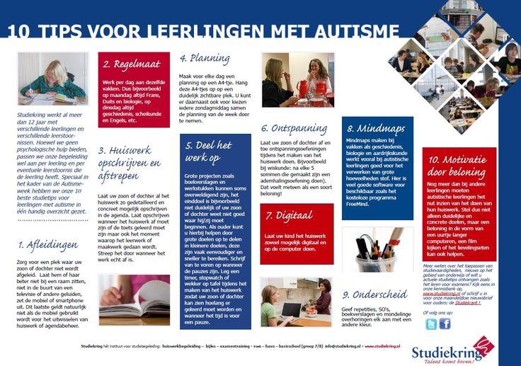 Misschien handig! Huiswerktips voor leerlingen met autisme: