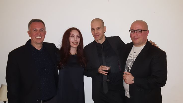 Author Peter Mark Adams with Alkistis Dimech & Peter Grey of Scarlet Imprint & Marco Visconti of Treadwell's Books 1st April 2017