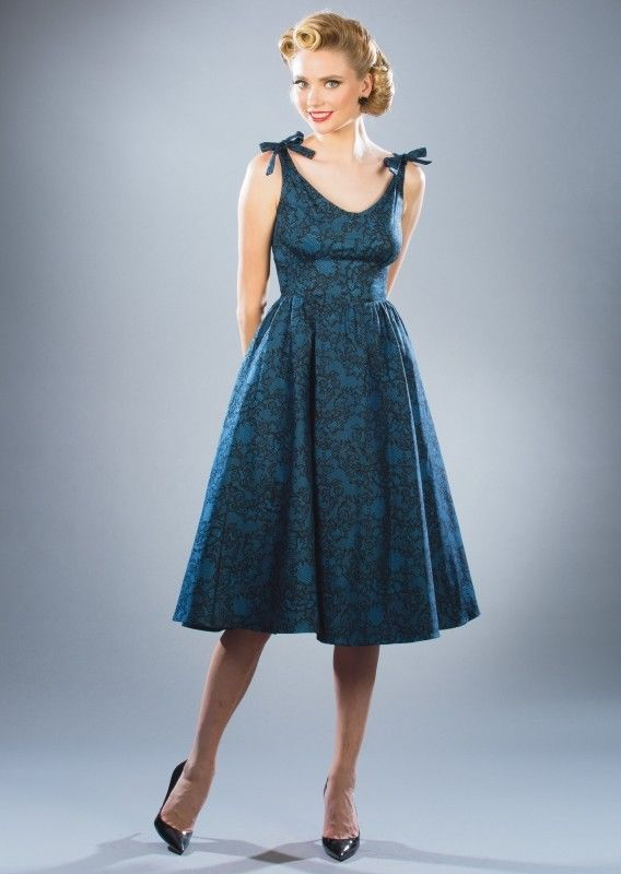 b0522dbf1030 Stop Staring Hollis Blue Black Lace Summer Swing Dress M-L-XL-3X Pin Up VLV  #StopStaring #50sBombshellWearVintageInspiredRockabillyPinUpCheesecake # ...