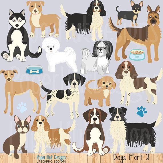 Dog Clipart Dog Clip Art Puppy Husky Spaniel Lhasa Apso German Etsy Dog Clip Art Cute Dog Toys Dog Clip