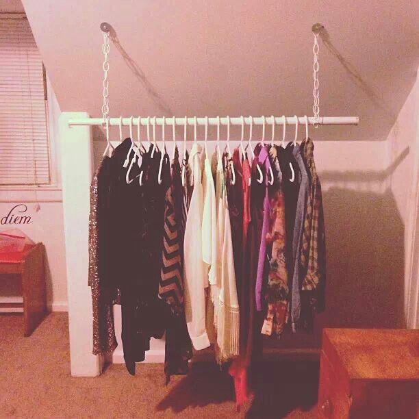 Diy clothing rack thrift shop ideas pinterest diy for Diy clothes closet