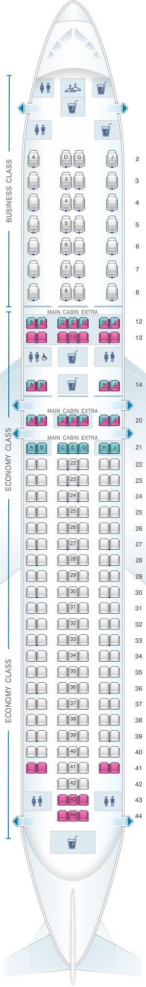 Seat Map American Airlines Boeing B767 300