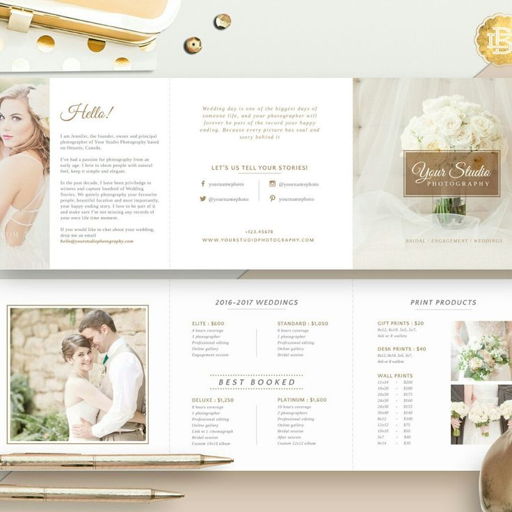 Another Pricing Guide with simple and elegant layout for your photography service. AVAILABLE NOW!