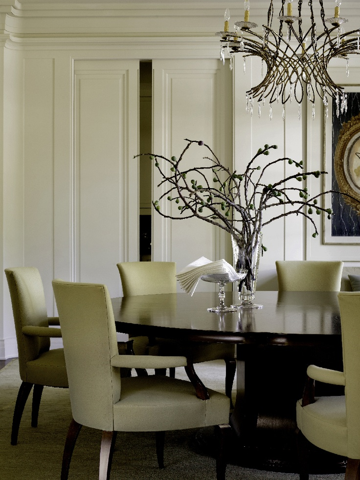 Barbara Barry Dining Room With Round Table