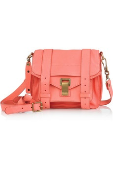 PROENZA SCHOULER PS1 Small leather satchel: Leather Satchel, Proenza Schouler, Purse, Small Leather, Coral Bags, Nice Coral, Coral Color, Schouler Ps1, Ps1 Small