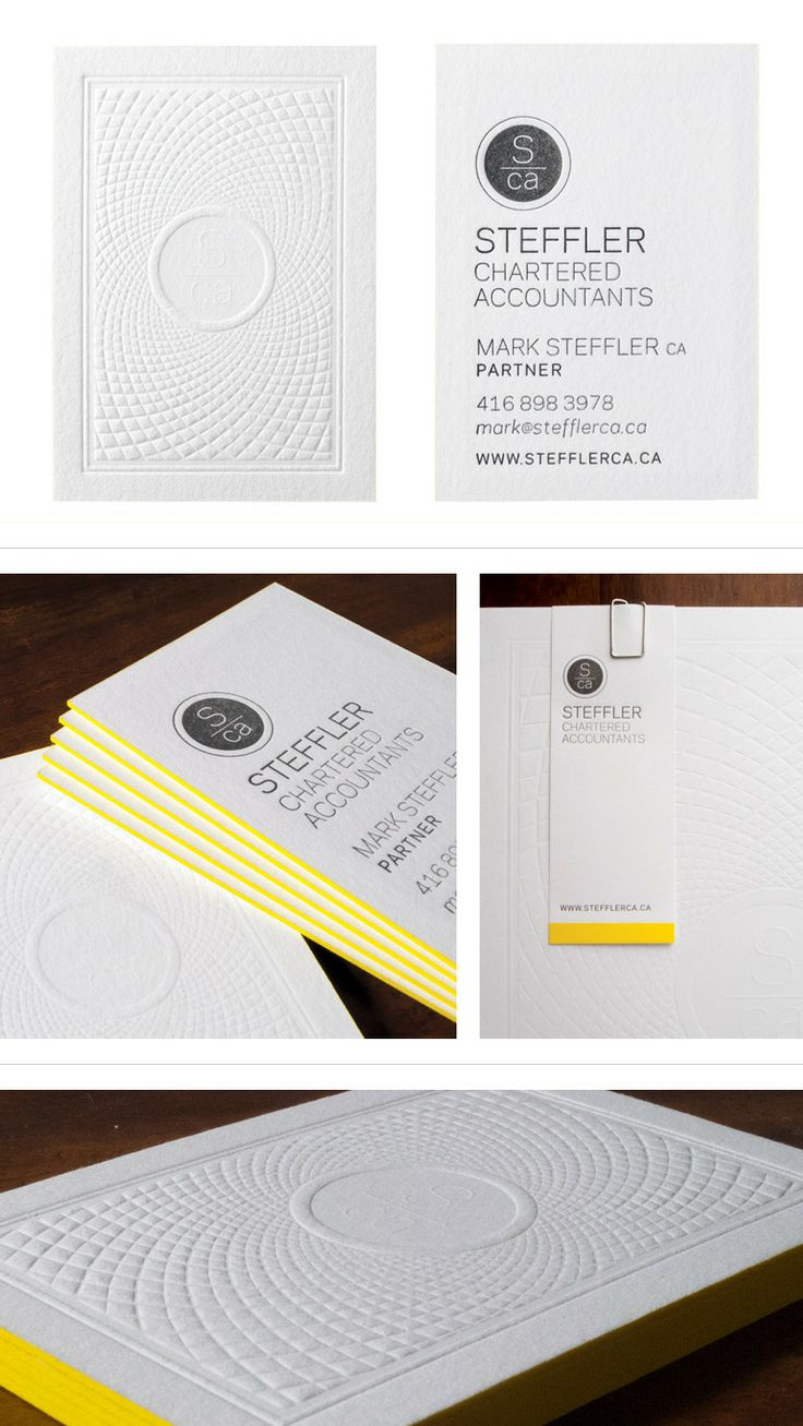 Steffler Chartered Accountants Business Cards. (Inked Edges <3)