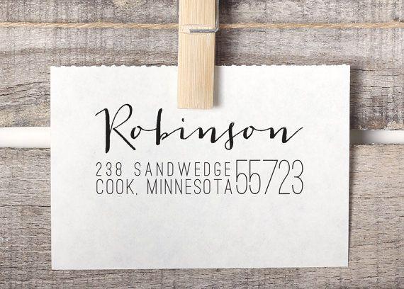 Return Address Stamp, Self-Inking Address Stamp - Custom Address Stamp Style No. 69 on Etsy, $26.95