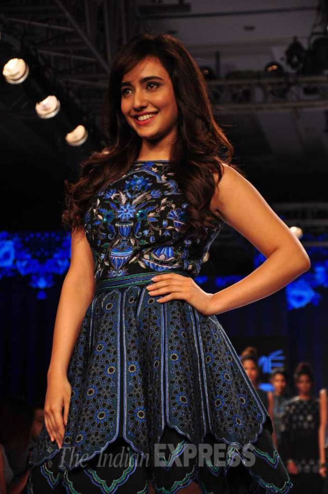 Neha Sharma at Lakme Fashion Week Winter/Festive 2015. #Bollywood #LFW2015 #Fashion #Style #Beauty #Cute