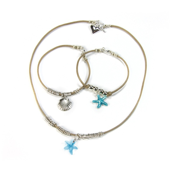 Necklace & Bracelet Charm Pippin Kit Aqua RRP £19.99 from Burhouse Beads