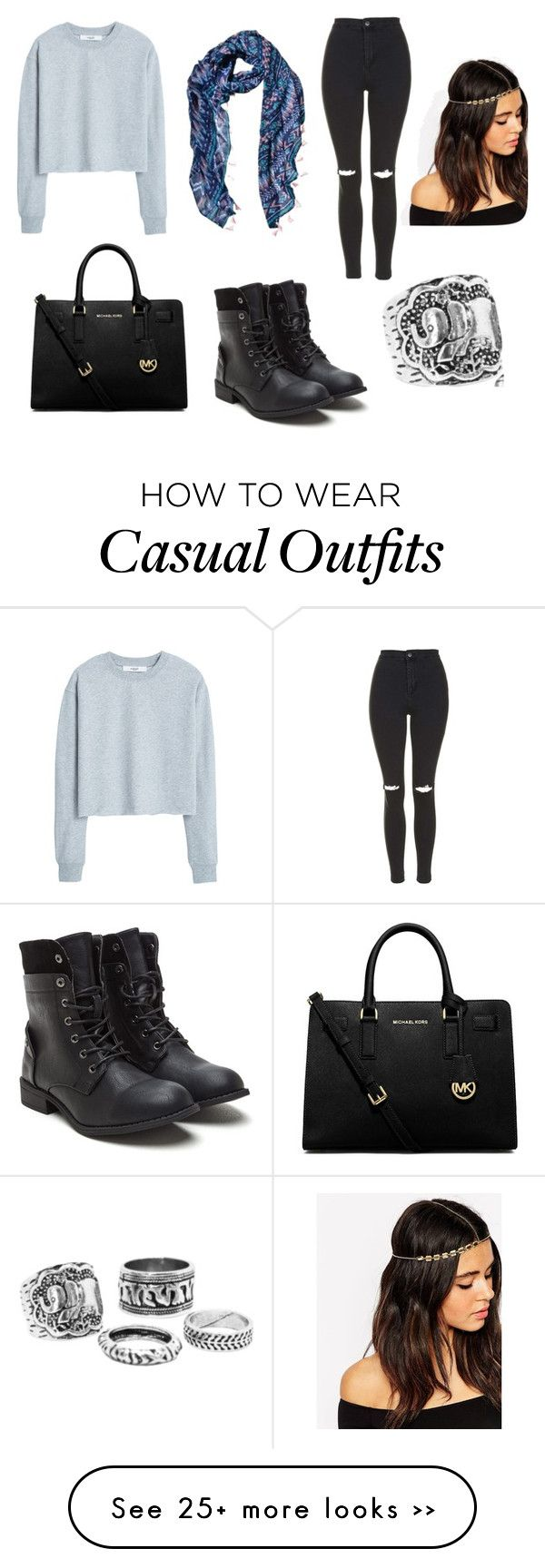 """""""casual"""" by xxcupcakesxx on Polyvore featuring MANGO, Topshop, MICHAEL Michael Kors and ASOS"""