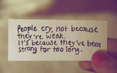 We ALL have our breaking points... and I hate that... because it always feels like I just didn't try hard enough.