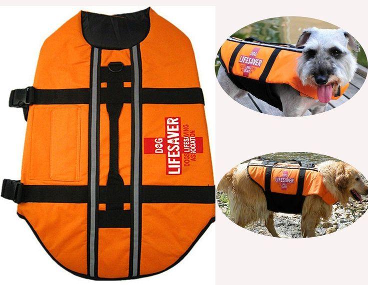 PETLESO¶© Dog Life Jacket Regular - Fit Reflective Puppy Life Jacket   : Cats Apparel