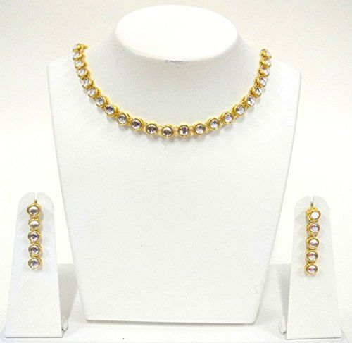 Indian Bollywood Gold Plated Elegant Kundan Polki Look light jewelry Necklace Set For Women Exclusive Jewellery, http://www.amazon.com/dp/B0721FBCWD/ref=cm_sw_r_pi_dp_x_IQVCzbA8A27ME