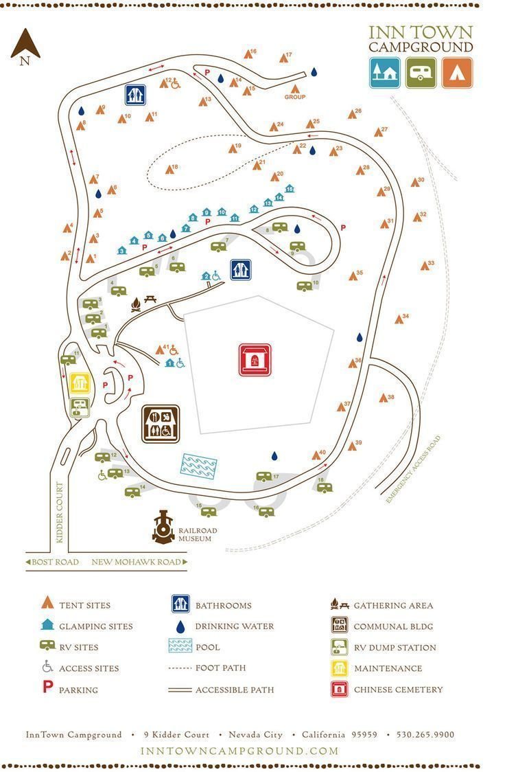 Map Campground Glamping Site Map