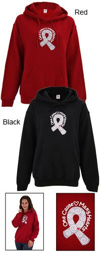 One Cause Many Hearts™ Diabetes Awareness Hooded Sweatshirt at The Breast Cancer Site