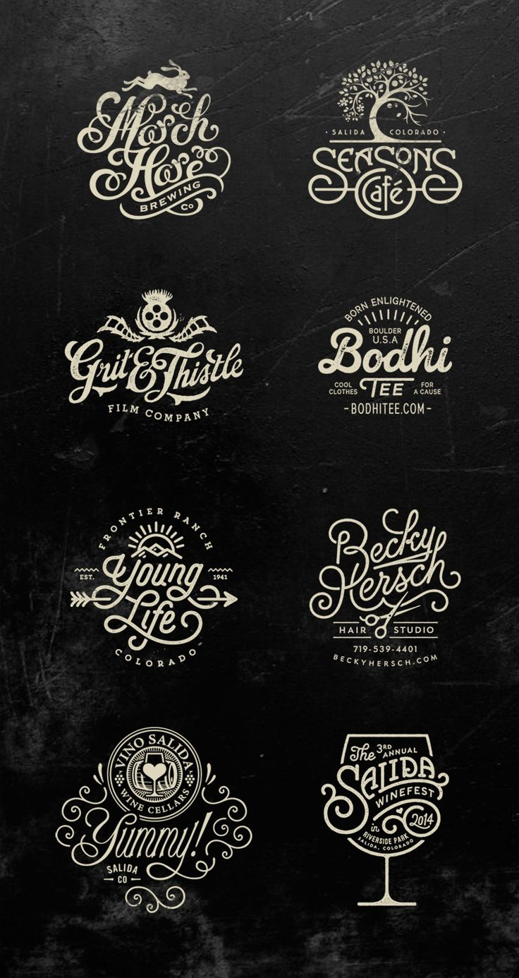 Logos by Jared Jacob of Sunday Lounge