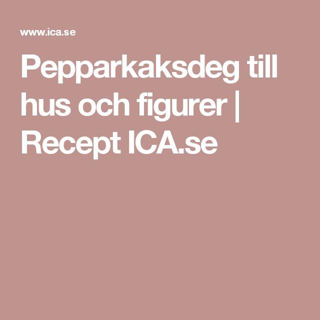 Pepparkaksdeg till hus och figurer | Recept ICA.se