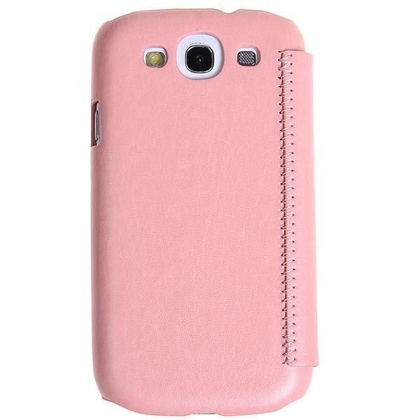 Etui Cuir PU Qualita Pour Galaxy S3 SIII Rose