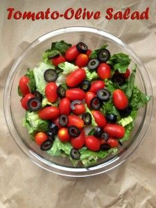 Tomato Olive Salad with Homemade Dressing | Salads: Greens, Fruit ...
