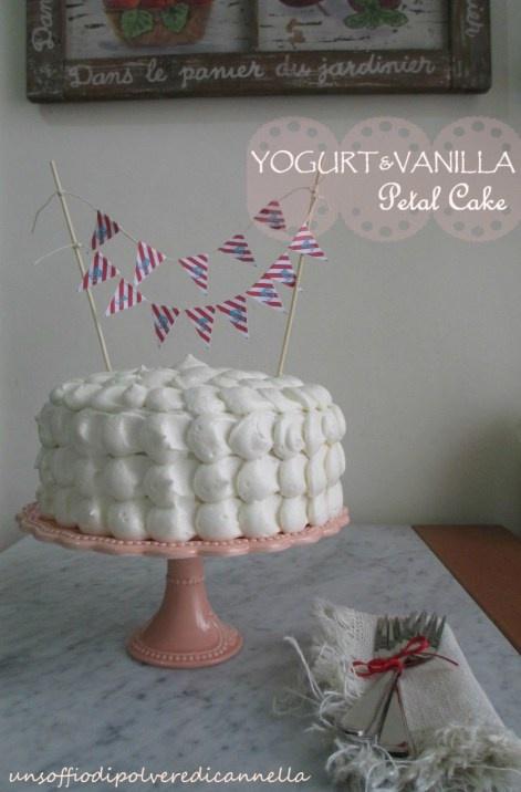 YOGURT PETAL CAKE