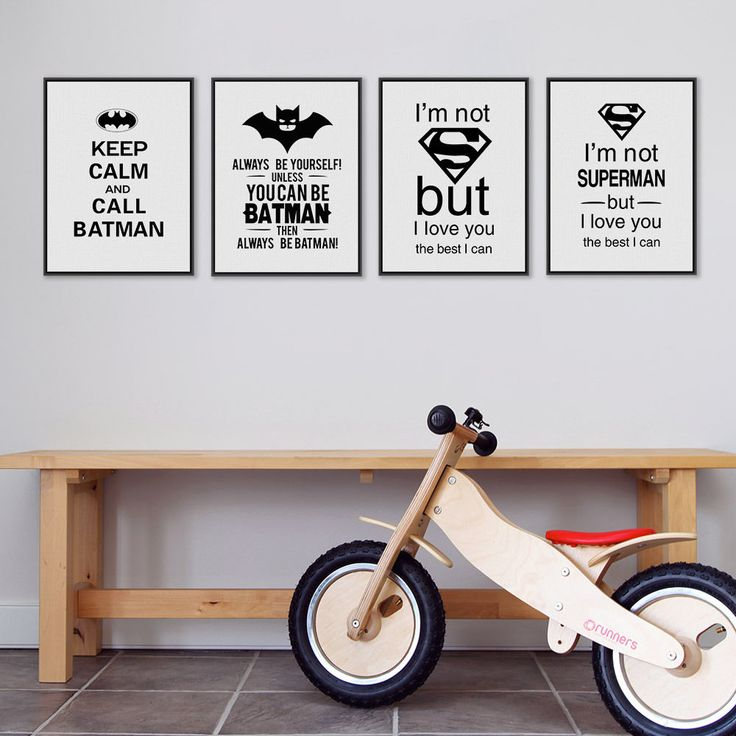 Modern Batman Superman Quote Poster Art Print Canvas Painting Boy Kids Room Deco #MildArt #Minimalism
