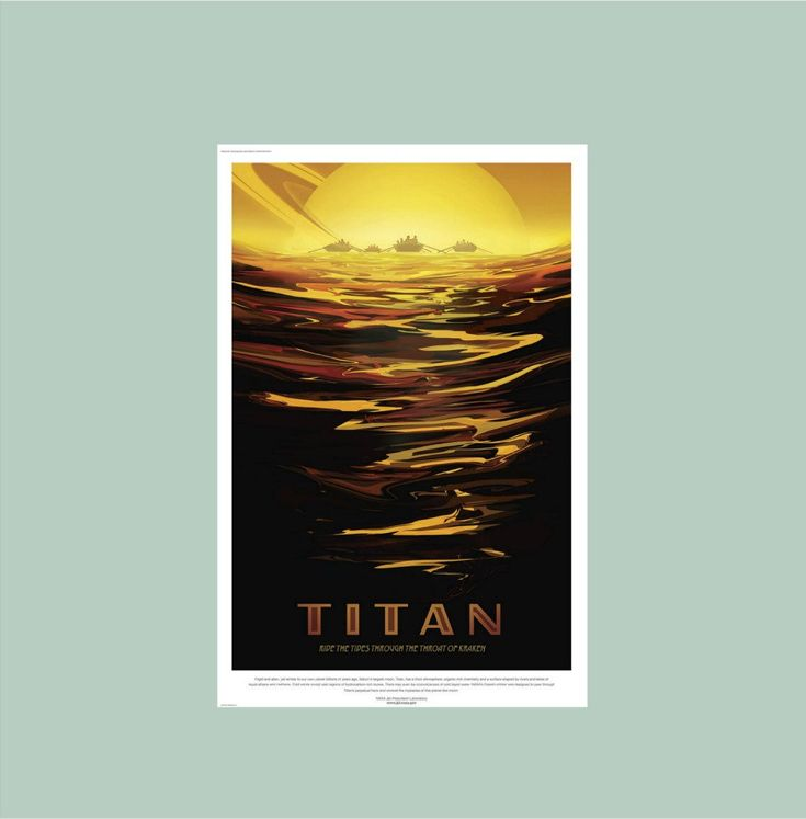 NASA Poster Titan, Saturn Moon Wall Decal, Space Travel Poster,Boys Room Decal,Planet Wall Art,Man Cave Decor,Gifts for Boys,Dorm Wall Decor by Popitay on Etsy