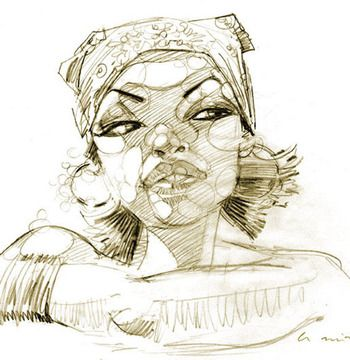 Modern Pinup Artist: Alberto Ruiz - BLOG - FUTURISTICALLY VINTAGE PIN UP PORTRAIT ART OF SANTIAGO