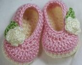 Etsy pattern crochet ballet slippers for baby #crochet #maryjanes #booties #patternhe Lovely Crow is doing a HUGE giveaway/sale/prize on her facebook page!  Gorgeous crochet patterns!  Go check it out!  www.facebook.com/thelovelycrow