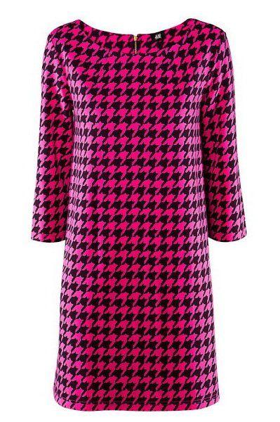 http://citylook.by/wp-content/uploads/2013/08/HM-fuchsia-houndstooth-shift-dress.jpg