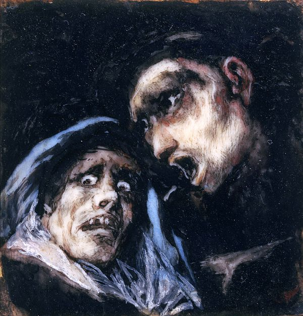 Monk Talking To An Old Woman Francisco Goya
