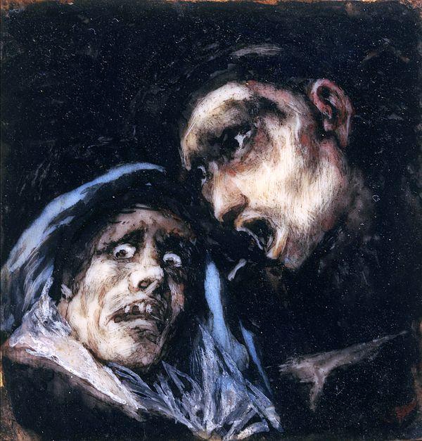 Monk Talking To An Old Woman Francisco Goya