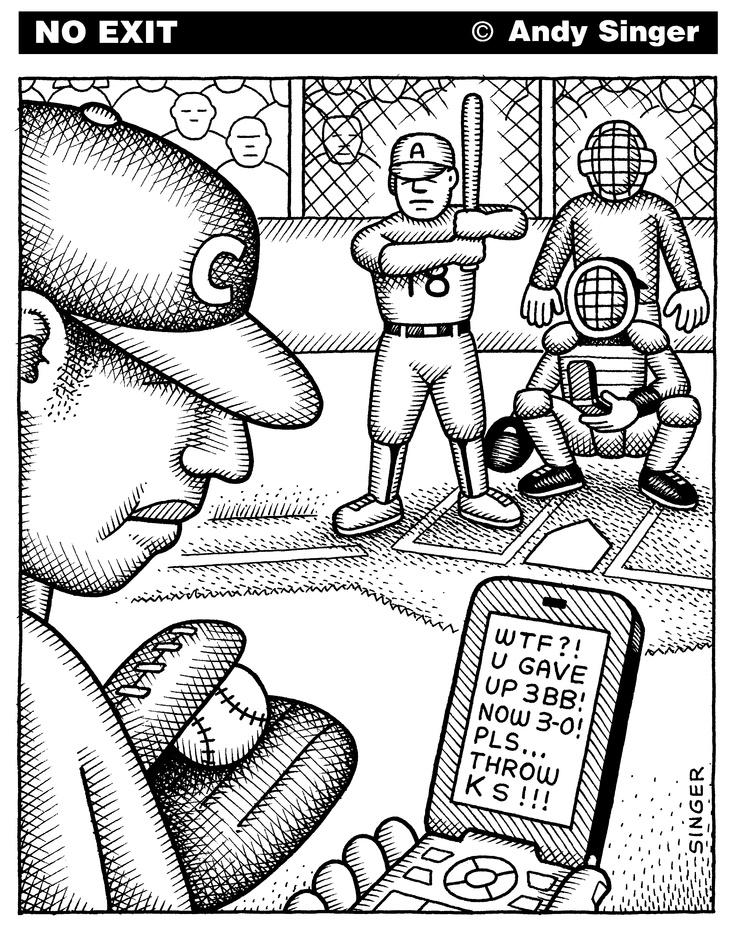 No Exit: Baseball Texting. In honor of the baseball playoffs...