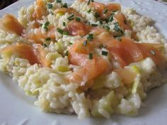 risotto poireau et saumon