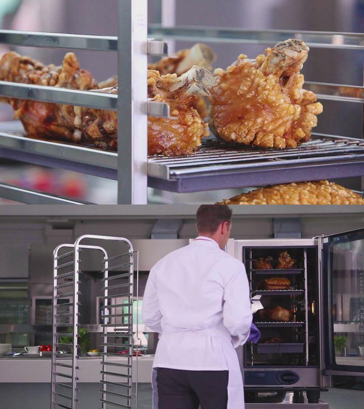 Pečené kolená, bôčik, hydinu či jahňacie mäso dokážete pripravovať naraz a šetrne počas noci pri minimálnych úbytkoch hmotnosti v konvektomate RATIONAL.