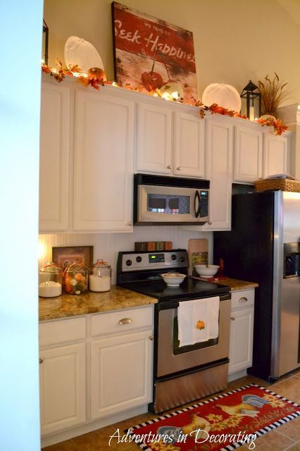 Adventures In Decorating Our Fall Kitchen: 64 Best Above Cabinets Staging Images On Pinterest