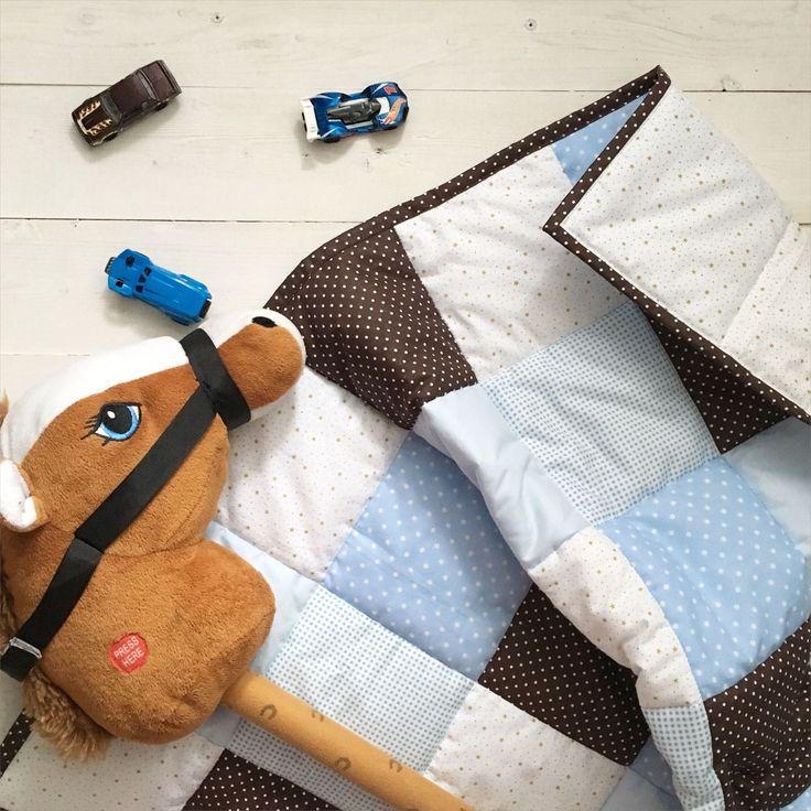 Купить Конверт на выписку Шоколадно-голубой. Лоскутное стёганое одеяло. - конверт на выписку, конверт для малыша