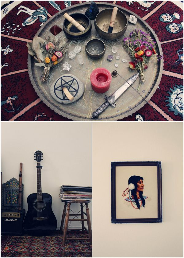 The House of Ally Sands - so gorgeous!! Her house looks like a collection of beautiful altars :) via The Bohemian Collective