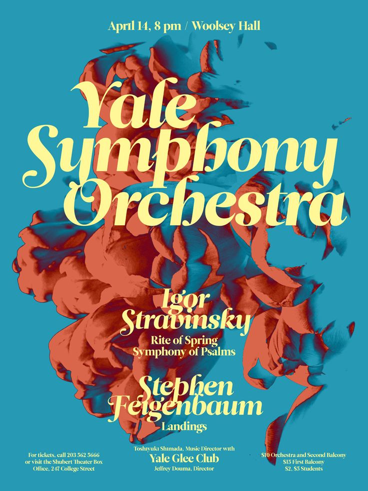 By Jessica Svendson | Yale Symphony Orchestra Concert Poster Gallery