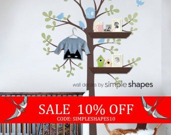Sale kids wall decal The ORIGINAL Shelving Tree by SimpleShapes